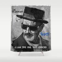 breaking bad Shower Curtains featuring Breaking Bad by dauberart