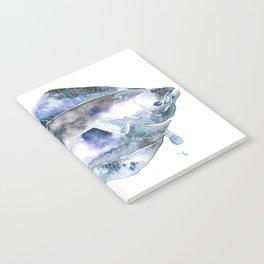 Flat Fish Watercolor Notebook
