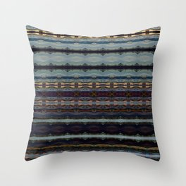 Bending Mountains Before Work Throw Pillow