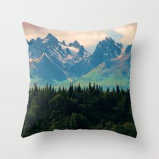 Escaping from woodland heights Throw Pillow