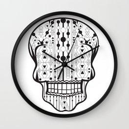 B/W Skull 2 Wall Clock