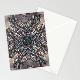 kaleidoscope - Fractal - Mandala - Digital Painting Stationery Cards