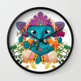 Little Ganesha Wall Clock