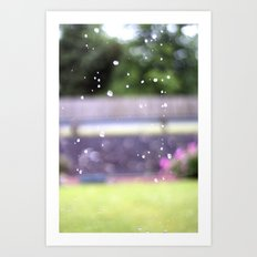 Raindrops.  Art Print