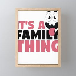 Fun Family It's A Family Thing Googly Eyes Framed Mini Art Print