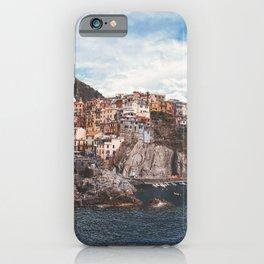 Cinque Terre, five lands, Manarola, Liguria, italian landscape, Italy love, UNESCO site, cliff village, sea villages iPhone Case