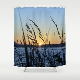 Sunset Sea Grass Shower Curtain