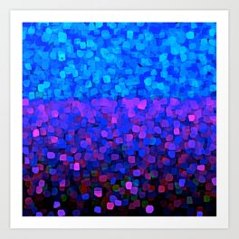 Sparkles Glitter Blue Art Print