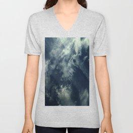 Cloud and sky 10 -cloud, sky, blue, positive,optimism Unisex V-Neck