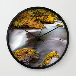 McKenzie River Oregon Autumn Canvas Print, Photographic Print, Art Print, Framed Print, Wall Clock