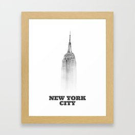 NYC Empire state (designer) Framed Art Print