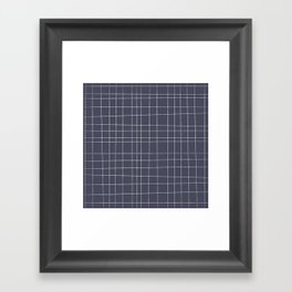 Charcoal Grid Framed Art Print