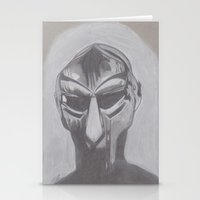 mf doom Stationery Cards featuring MF Doom by Ous Art