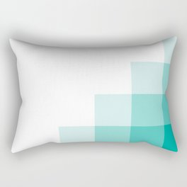 Blue Pixels Rectangular Pillow
