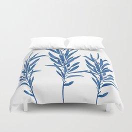 Eucalyptus Branches Blue Duvet Cover