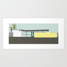 Mid Century Modern House 10: Palm Springs Architecture: Desert Style: Vintage Design Art Print