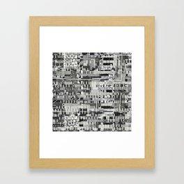 Exploiting Digital Behavior (P/D3 Glitch Collage Studies) Framed Art Print