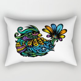 Fancy Bird too Rectangular Pillow