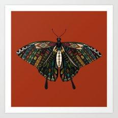 swallowtail butterfly terracotta Art Print
