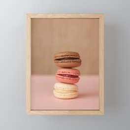Pink Paris Macaroons Framed Mini Art Print