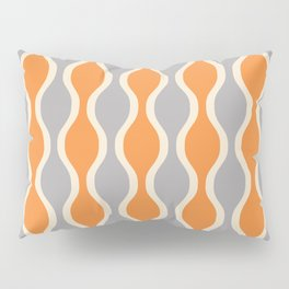 Classic Retro Ogee Pattern 852 Orange and Gray Pillow Sham