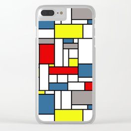 Mondrian style pattern Clear iPhone Case