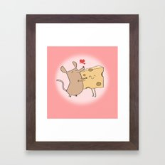 VALENTINE - mouse and cheese Framed Art Print