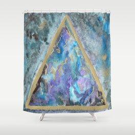 golden triangle nebula dreamscape Shower Curtain