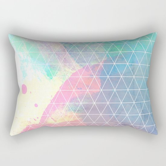 Geometric Shadows Rectangular Pillow
