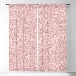 Trendy girly blush pink modern abstract glam glitter Blackout Curtain