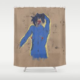Huellas:  the blue one Shower Curtain