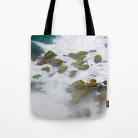 rush Tote Bags featuring Rush by Adrienne Page