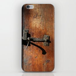 Antique Wooden Door, Circa 1840 iPhone Skin