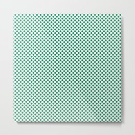Jelly Bean Green Polka Dots Metal Print
