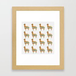 Lots of Llamas Framed Art Print