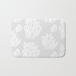 Prickly Pear Grey Cacti Bath Mat