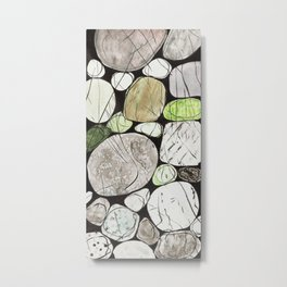 Classical Stones Pattern in High Format Metal Print