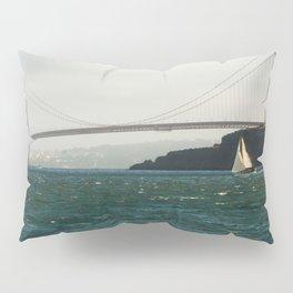 Sailing Under the Golden Gate Bridge Photography Print Pillow Sham