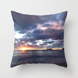 Sunrise in 'Nalo Throw Pillow