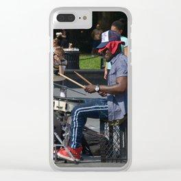 Drummin' Clear iPhone Case