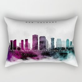 New Orleans Watercolor Skyline Rectangular Pillow