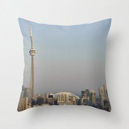 Toronto CN Tower & SkyDome Throw Pillow