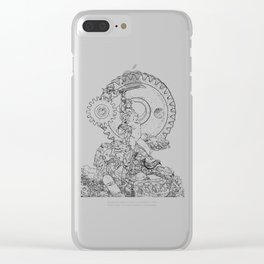 A Hero of Jupiter (black & white) Clear iPhone Case