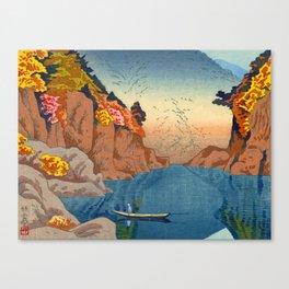 Asano Takeji Views of Wakayama Vintage Japanese Woodblock Print Landscape Asian Art Canvas Print