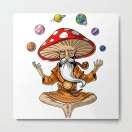 Buddha Magic Mushroom Metal Print