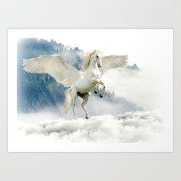 Magic Unicorn Art Print