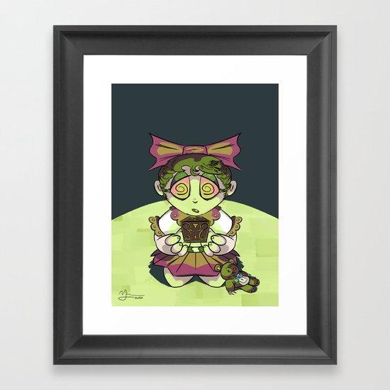 Vanessa and Her Nightmare Box Framed Art Print