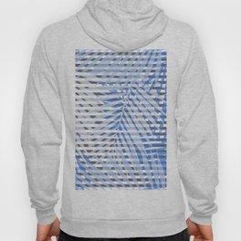 Blue striped palm leaves seamless pattern. Hoody