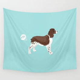 english springer spaniel funny farting dog breed gifts Wall Tapestry