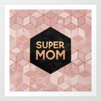 Supermom Art Print